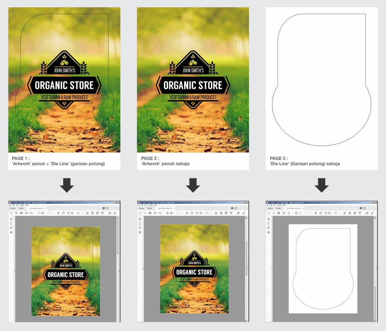 Contoh Artwork Stiker PDF